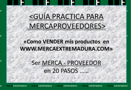 GUIA MERCAPROVEEDOR. 2013