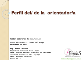 Perfil del/ de la orientador/a