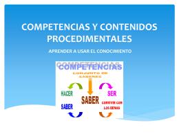 COMPETENCIAS Y CONTENIDOS PROCEDIMENTALES