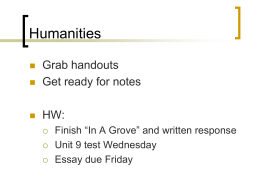 "In A Grove"" - Hinsdale South High School / Homepage"