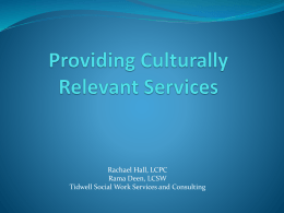 Providing Culturally Relevant Services