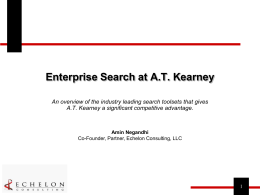 Enterprise Search at AT Kearney
