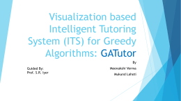 Visualization based Intelligent Tutoring System (ITS) for