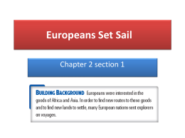 Europeans Set Sail