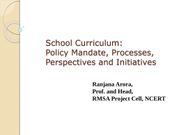 National Curriculum Framework-2005