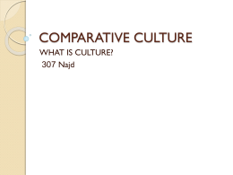COMPARATIVE CULTURE