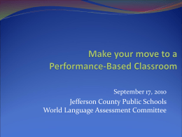 Jefferson County Public Schools World Language …