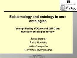 Epistemology and ontology in core ontologies: …