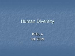 Human Diversity - El Camino College