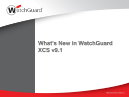 What's New in XCS v9.1
