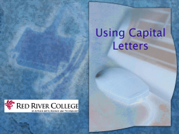 Capitalization - Murrieta Valley Unified School District