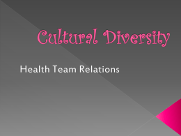 Cultural Diversity - Currituck County Schools