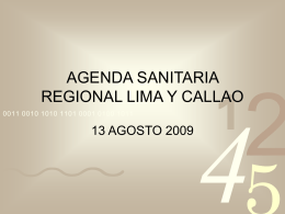 agendas sanitarias en Lima
