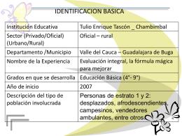 IDENTIFICACION BASICA