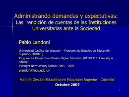 Accreditation and Private Higher Education Development: …