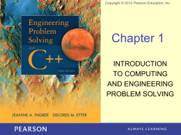 Engineering Problem Solving with C++, Third Edition