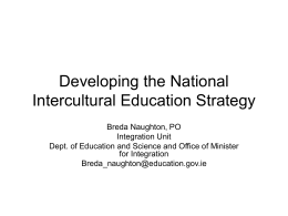 Developing the National Intercultural Education Strategy