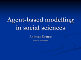 Agent-based modeling in social sciences