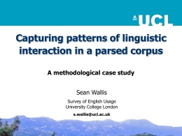 Capturing linguistic interaction in a grammar