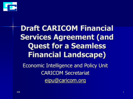Draft CARICOM Financial Services Agreement (and quest …