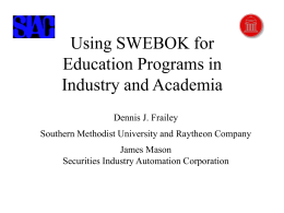 Software Engineering Education Program