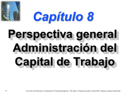 Chapter 8 -- Overview of Working Capital Management