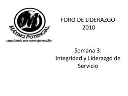 FORO DE LIDERAZGO 2008