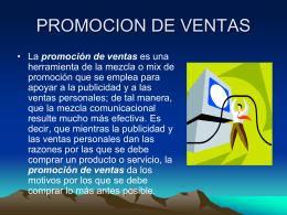 PROMOCION DE VENTAS - :: Universidad Ecotec