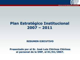 PEI-2007-2011 - Resumen Ejecutivo