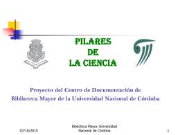 PROYECTO PILARES DE LA CIENCIA