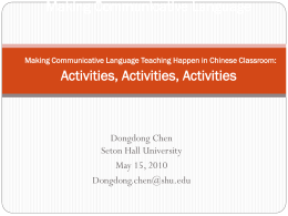 Making Communicative Language Making Communicative
