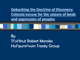 Debunking the Doctrine of Discovery: Colonial excuse …
