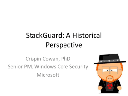 StackGuard: A Historical Perspective