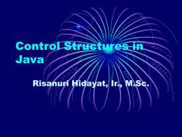 Control Structures - Gadjah Mada University