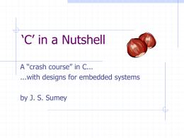 C in a Nutshell - California University of Pennsylvania