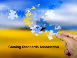 Insert title here - Gaming Standards Association