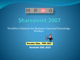 No Code Sharepoint 2007 Workflow Solutions created by
