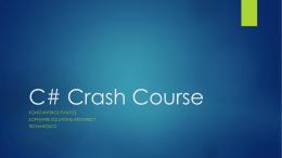 Intro to C#