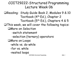 COIT29222-Programming Principles Lecture Week 06
