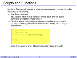 Scripts and Functions - Georgia Institute of Technology