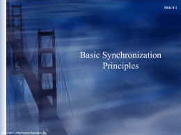 Basic Synchronization Principles