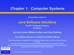 Chapter 1: Computer Systems - Great Valley School District