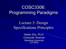 Foundations of Programming Languages Seyed H. Roosta