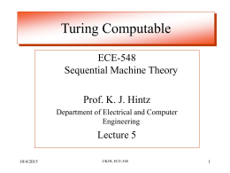 ECE-548 Sequential Machine Theory