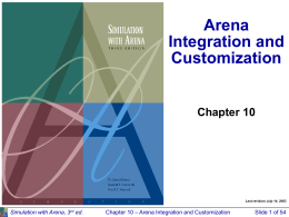 Chapter 10 -- Arena Integration and Customization
