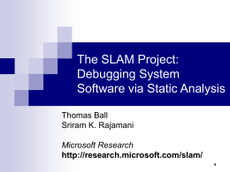 The SLAM Toolkit: Debugging System Software via Static