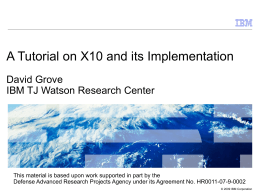 Implementing X10: Spanning High Performance …