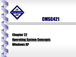 CMSC421 - Computer Science and Electrical Engineering