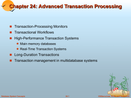 Chapter 24: Advanced Transaction Processing