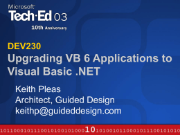 Upgrading VB 6.0 Applications to VB.NET